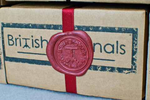 WAND DISPLAY / GIFT BOX, RECYCLED CARD, AUTHENTIC WAX SEAL