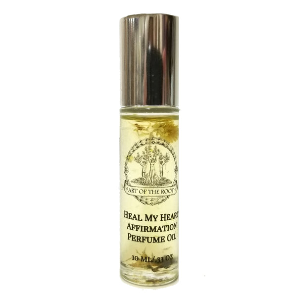 Heal My Heart Affirmation Roll-On Perfume for Grief, Loss, Sadness & Healing