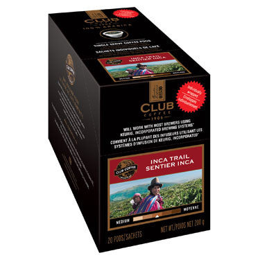 Club Coffee - Inca Trail - AromaCup™ Single Serve Coffee 20ct - COMPOSTABLE