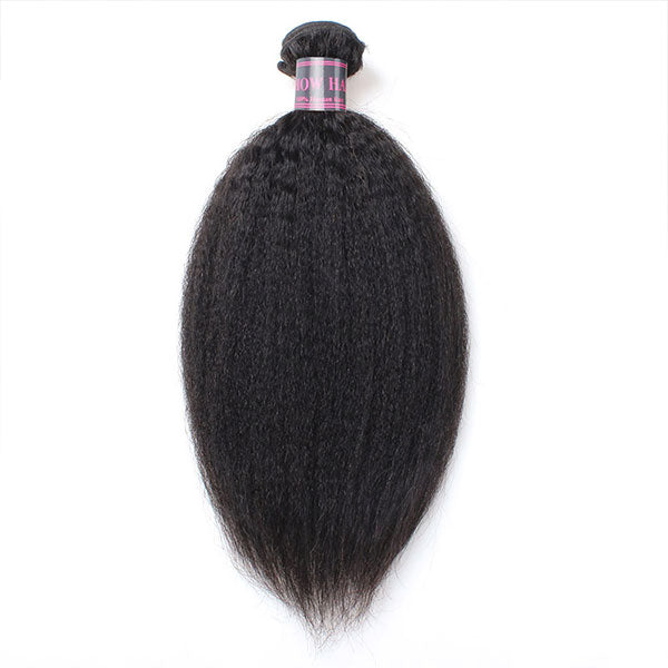 Ishow Virgin Kinky Straight Human Hair Weave Extensions Cheap Sale