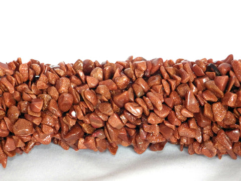 Goldstone Chip Beads