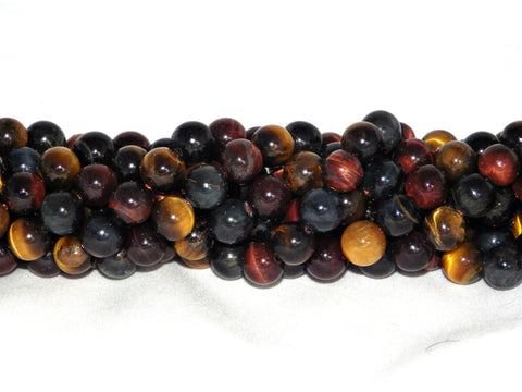 Mixed Tiger Eye Beads - 10mm