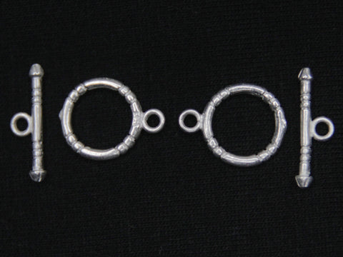 Sterling Silver Fancy Toggle Clasp