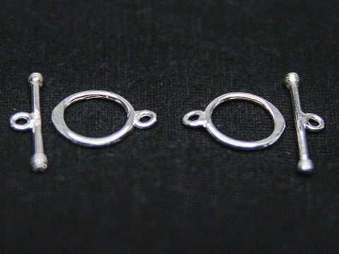 Sterling Silver Plain Toggle Clasp