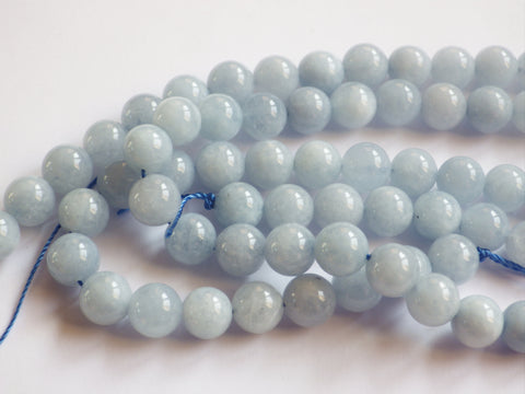 10mm Aquamarine Round Beads