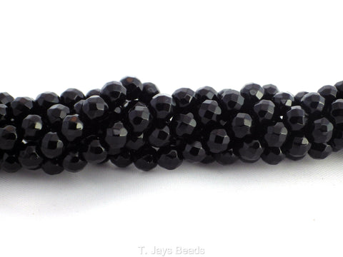 Faceted Black Onyx Beads - 6mm