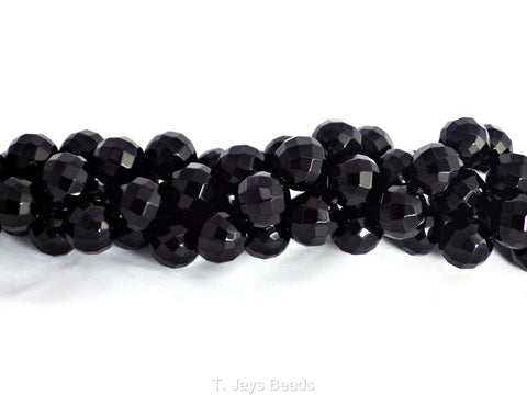 Faceted Black Onyx Beads - 8mm