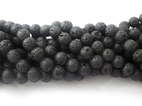 8mm Lava Rock Stone Round Beads