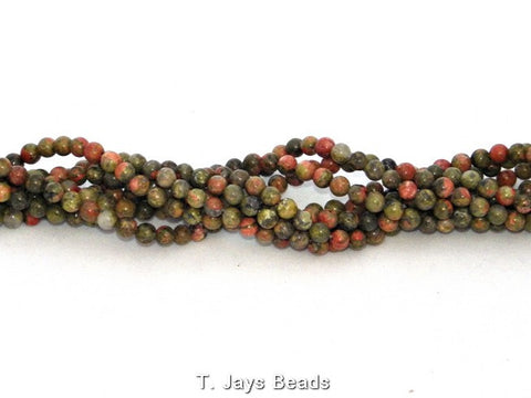 Unakite Beads - 4mm