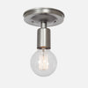 Bare Bulb Flush Mount Ceiling Light - Vintage Silver