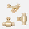 Brancusi Brass Cabinet Knob Group - Raw Brass
