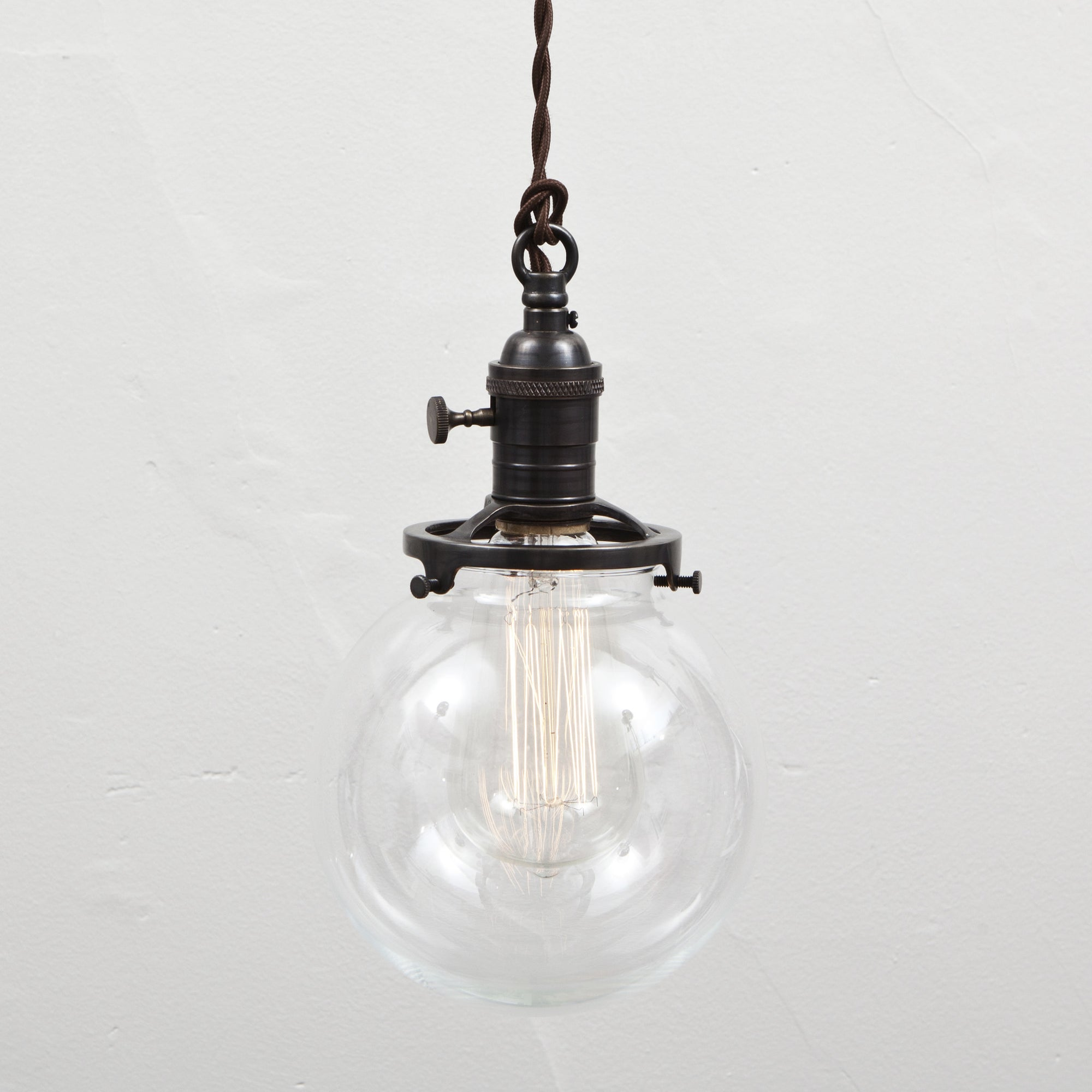 Switch Socket Pendant - Glass Globe