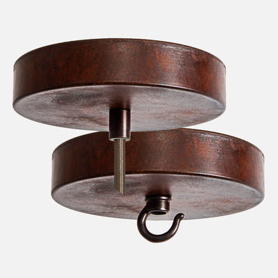 Natural Rust Ceiling Canopy Kit for Pendant Light or Chandelier