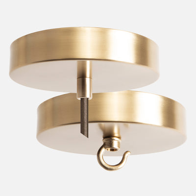 Satin Brass Ceiling Canopy Kit for Pendant Light or Chandelier