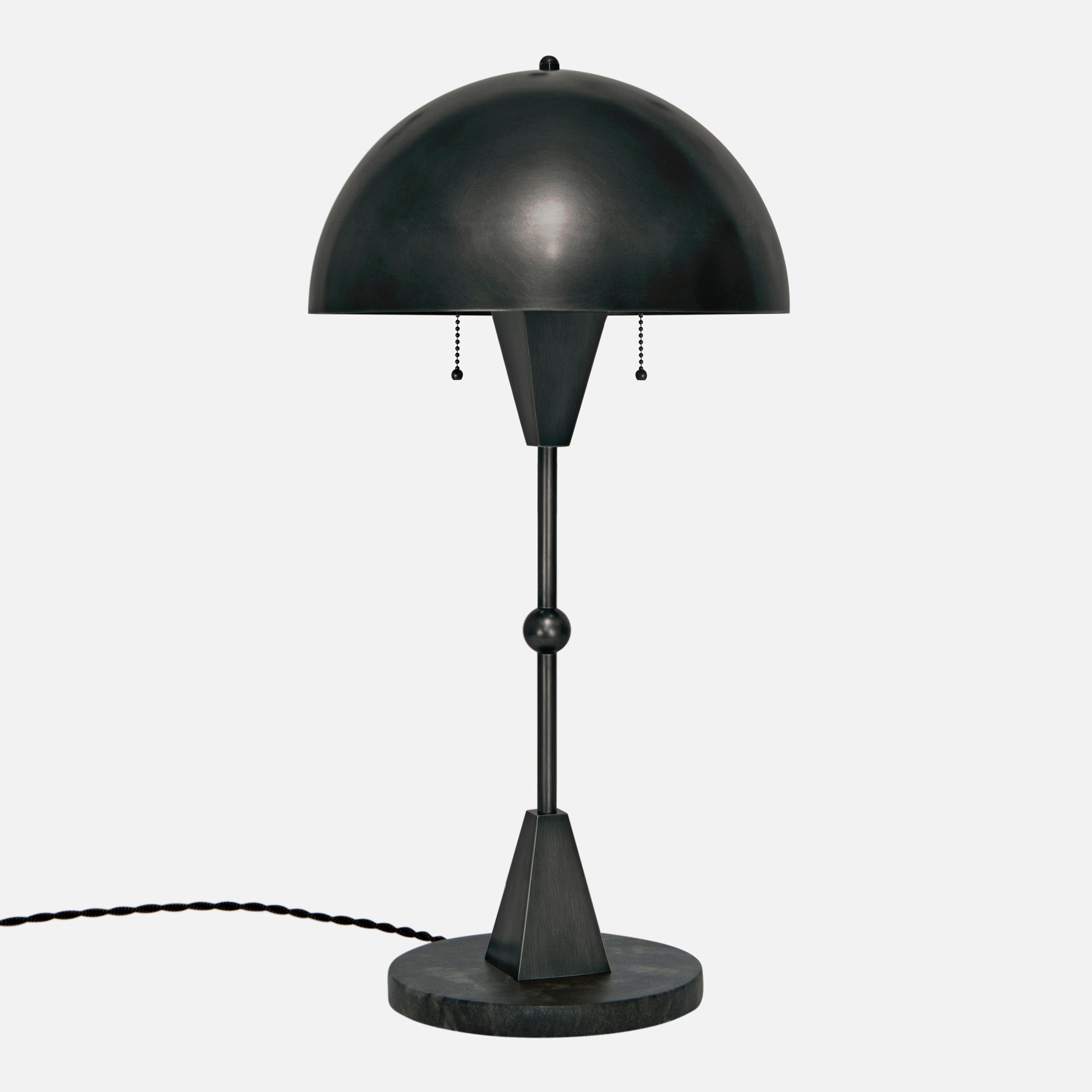 Dome Table Lamp - Blackened Brass