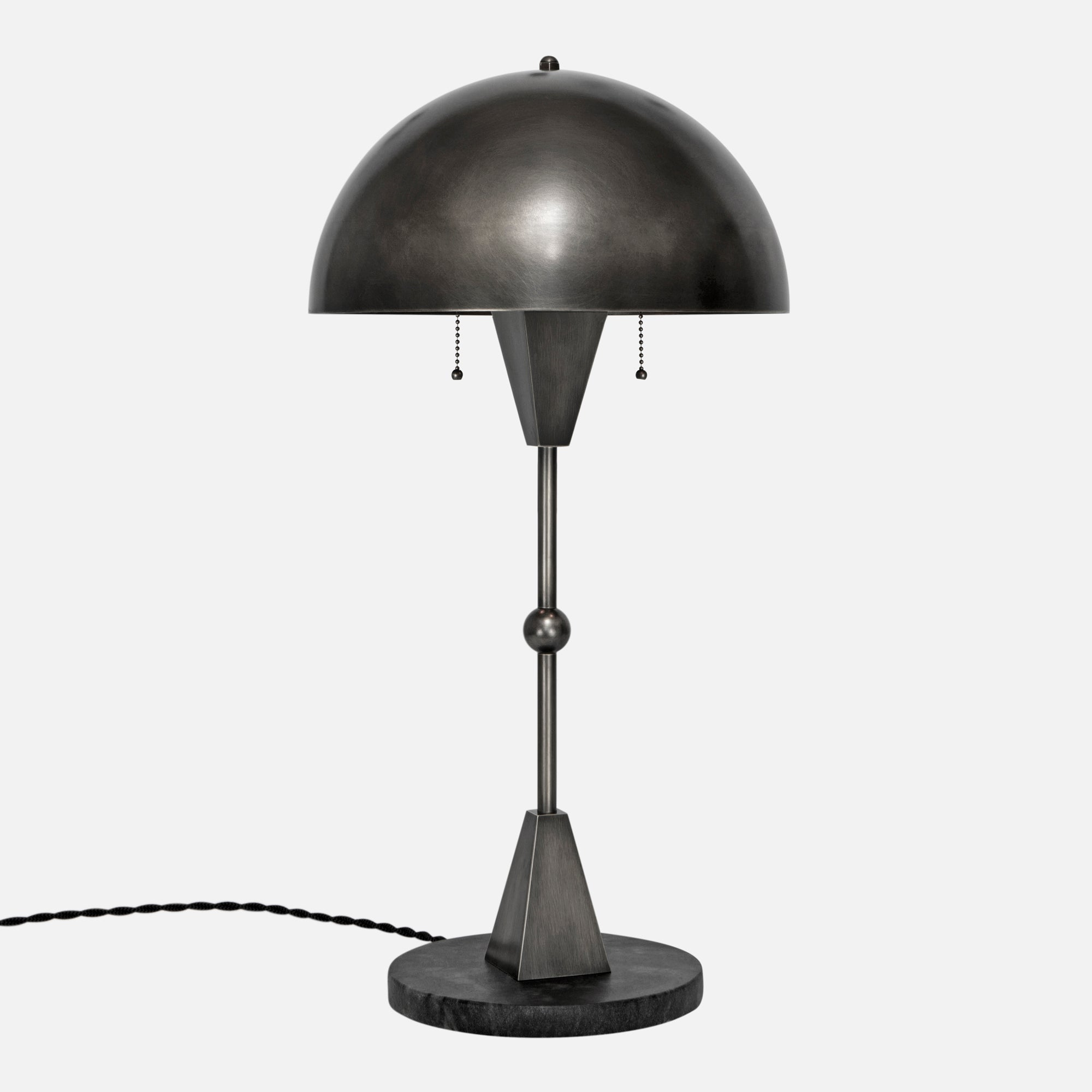 Dome Table Lamp - Vintage Nickel