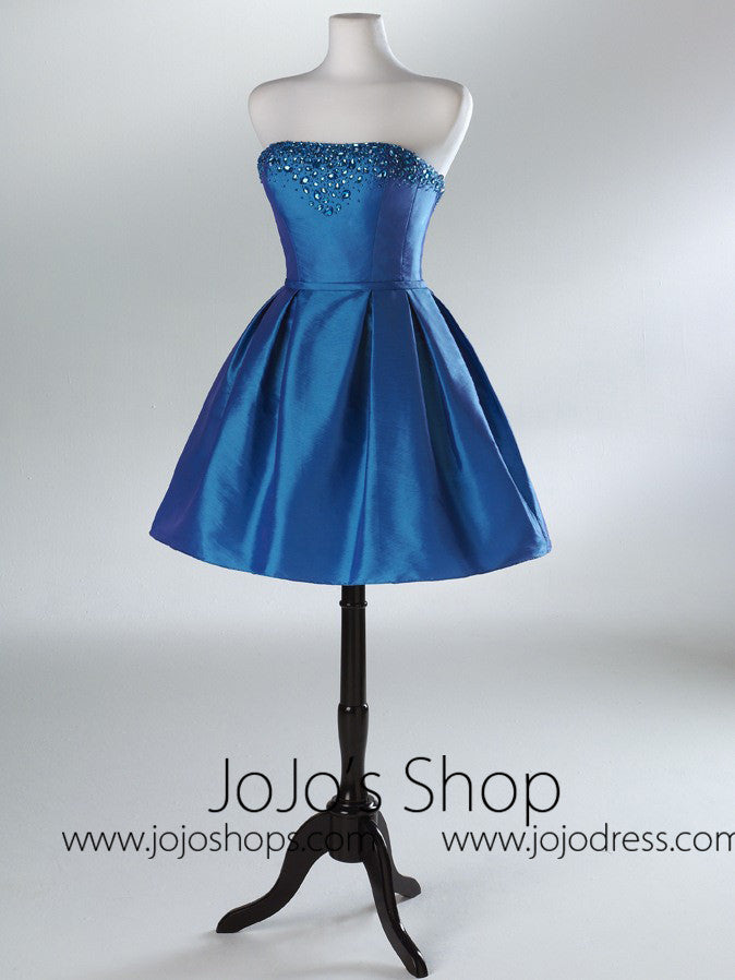 Blue Short Cocktail Prom Formal Dress HB2032A