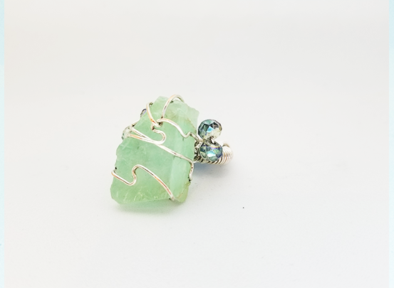 Green Quartz Galaxy Ring