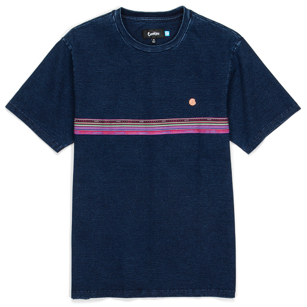 Peruvian Indigo Washed Striped S/S Knit