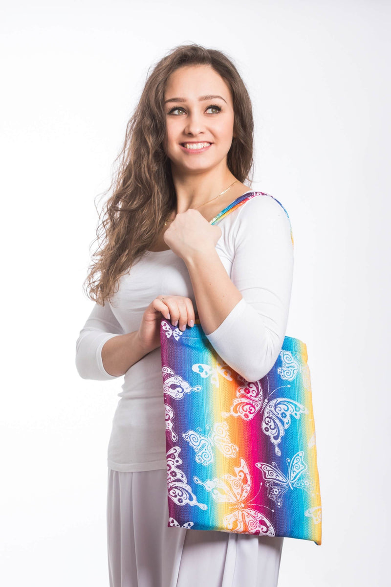 Lenny Lamb Butterfly Rainbow Light Shopping bag