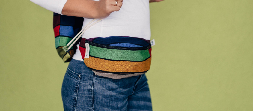 Lenny Lamb Carousel of Colors Waist Bag
