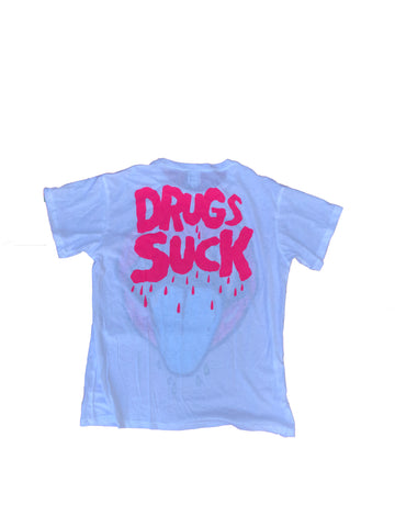 Drugs Suck White T-Shirt