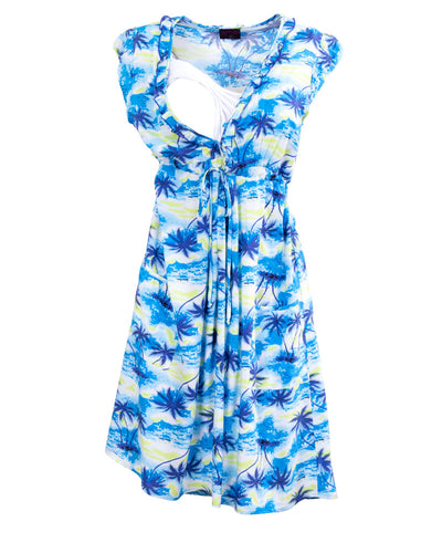 Hawaiian Delight Breastfeeding Dress - Detail