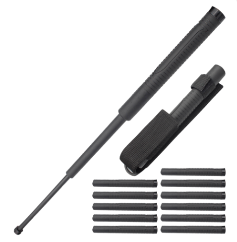 12x Bundle Pack 22 Inch Baton Reinforced Plastic with Metal Core and Rubber Grip Handle - Knockout Knucks