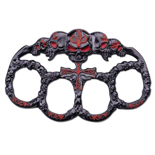 Red & Black Skulls Paperweight - Knockout Knucks