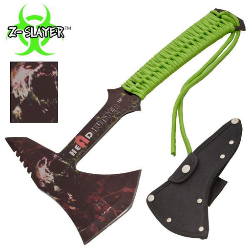 Z-Slayer Headhunter Tomahawk Throwing Axe With Green Paracord
