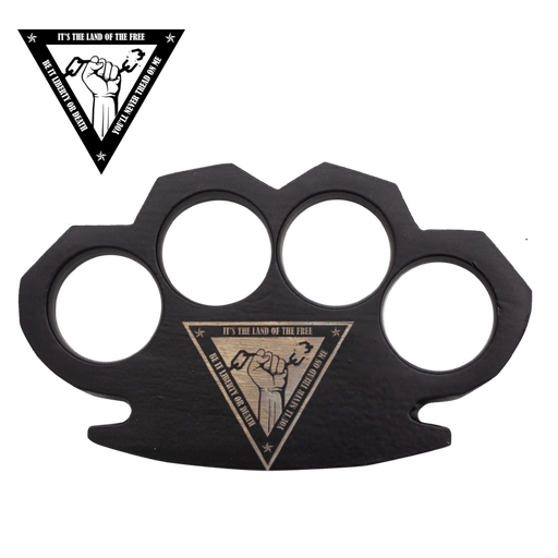 Land of The Free Steam Punk Black Knuckles-Knockout Knucks