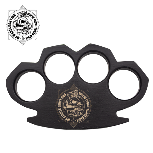 My Rights, Your Feelings Steam Punk Black Solid Steel Knuckles-Knockout Knucks
