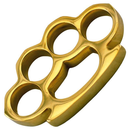 The Commander - Real Gold Plated Brass Knuckles-Knockout Knucks