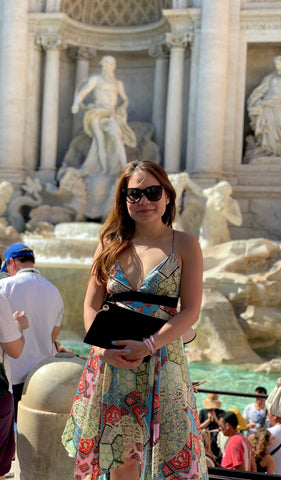 Handbag Designer Stacy Chan at Trevi Fountain