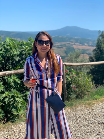Brunello Wine Tasting Tuscany Handbag Designer Stacy Chan
