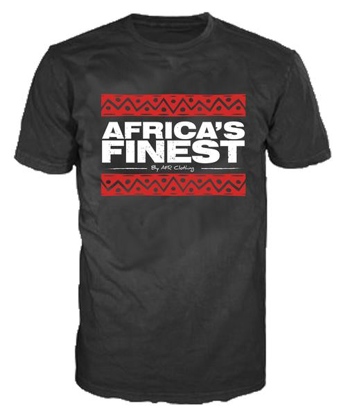 AFRICA'S FINEST - Unisex Red Bars T-Shirt