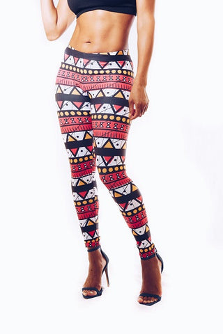 Ankara Triangles Leggings