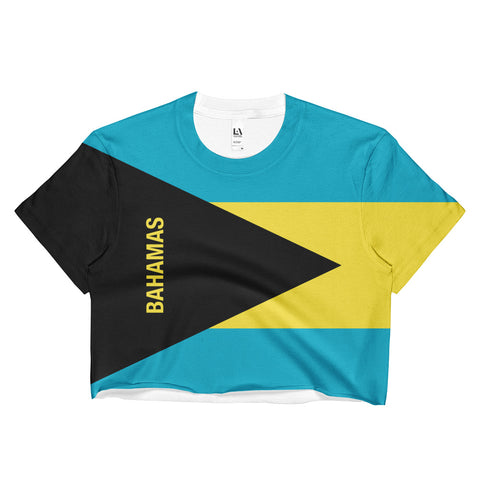 Bahamas Flag Print Crop Top