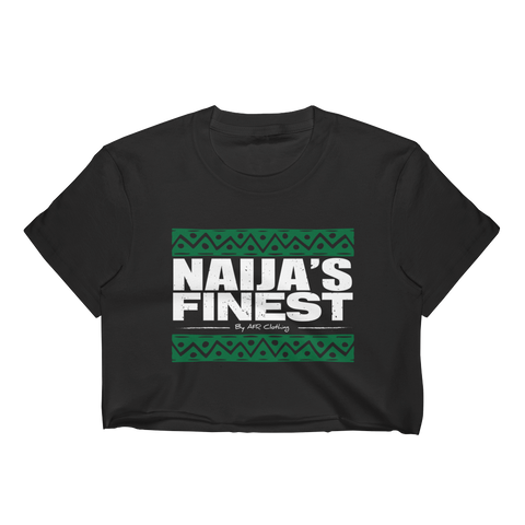 Naija's Finest Ladies Crop Top Black