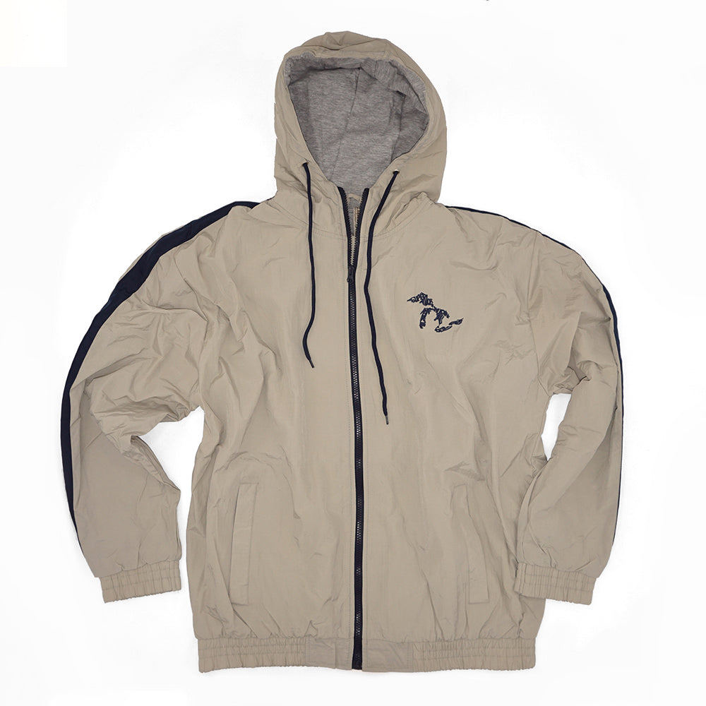 Momentum Nylon Lined Hooded Jacket - Tan