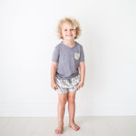 Rivers Gray Terry Sweat Shorts, Shirt Set