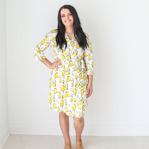 lemon outfits for babies and moms for summer