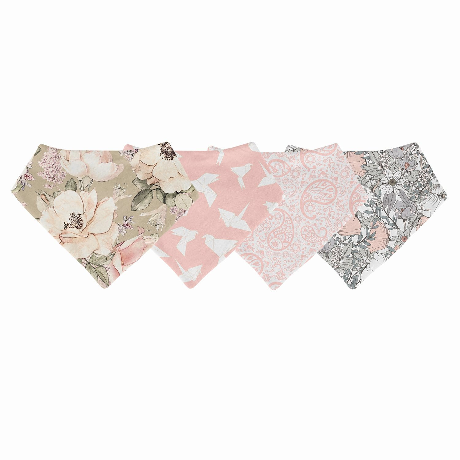 Pretty in Pink 4-Pack Bib Collection