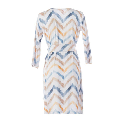 Neutral Watercolor Chevron Robe