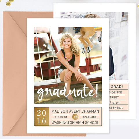 Grad Announcement | Graduate!