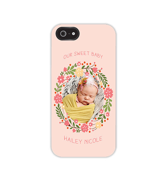 iPhone Case or Skin  | Floral Wreath