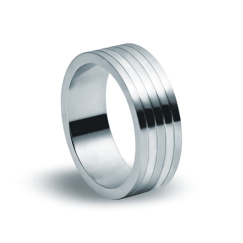 Stainless Steel Banded Ring - Zaffre Jewellery - 1