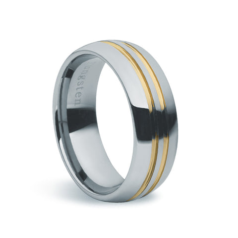 Tungsten Carbide & Gold Ring - Zaffre Jewellery - 1