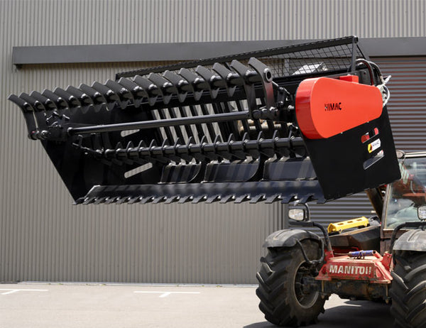Rock Picker for Telehandlers - High torque motor