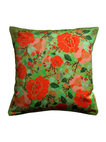 Roseate Cushion - Green